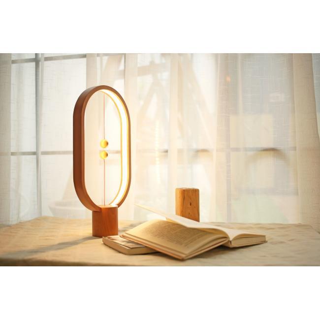 Allocacoc Heng Balance Lamp Ellipse USB; LIGHT WOOD