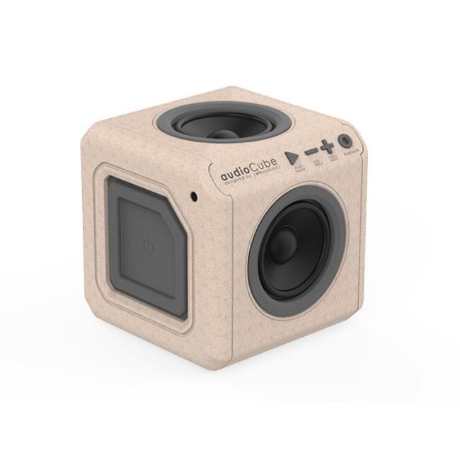 allocacoc AudioCube Portable Wood Edition UK - 3703/UKACWD