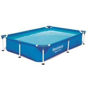 Bestway Steel Pro Splash Pool, 2.21 x 1.5 x 0.43m, 1200ltr - 56401