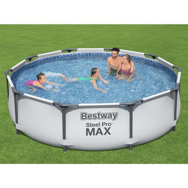 Bestway Steel Pro Max Round Frame Pool Set, 3.05mx 76cm - 56408