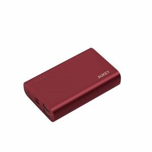 Aukey 10000mAh USB C QC3.0 And Power Delivery Premium Power Bank, Red - PB-XD12 RD