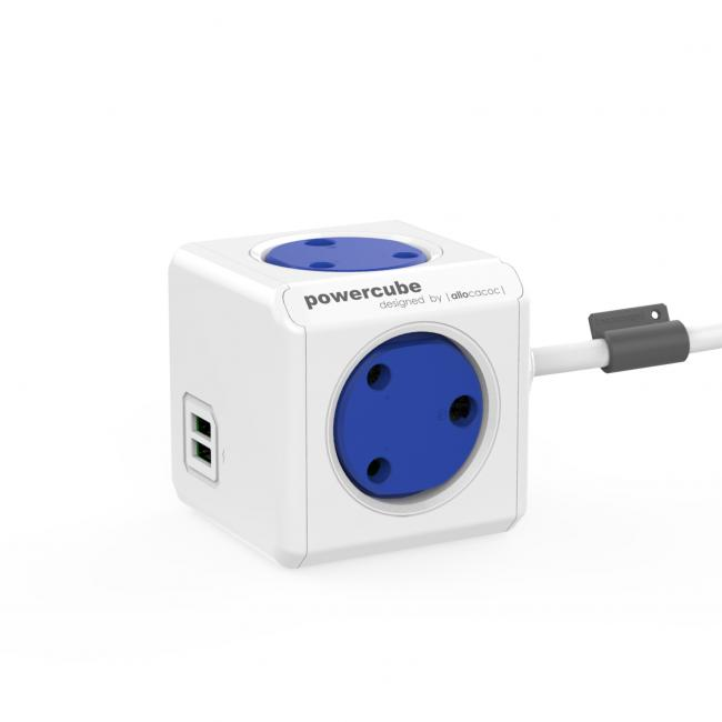 Allocacoc Powercube Extended 1.5M USB Blue MM