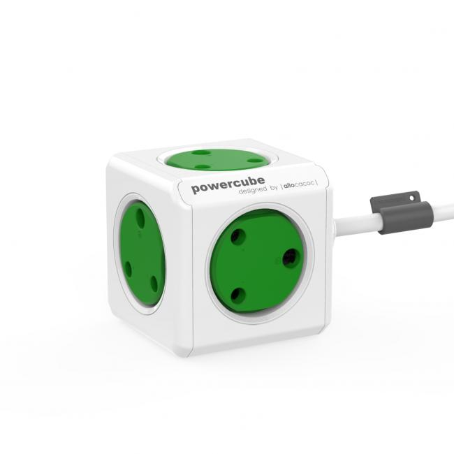 Allocacoc Powercube Extended 1.5M USB Green MM