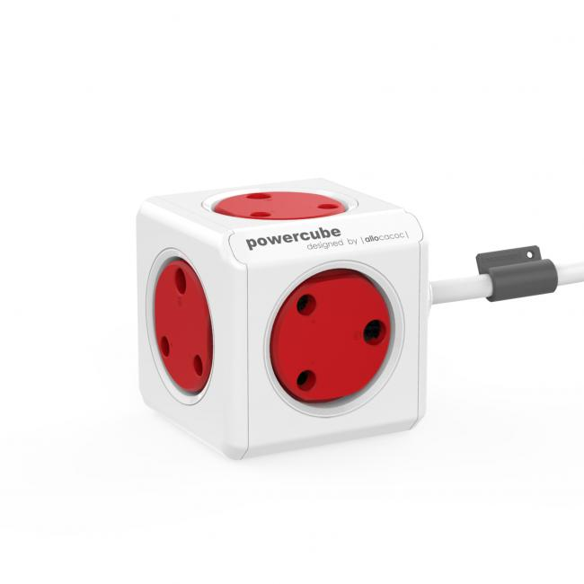 Allocacoc Powercube Extended 1.5M USB Red MM