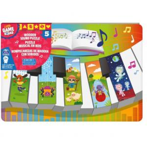 Little Game Squad Piano Wood Sound Puzzle - 6059753-T