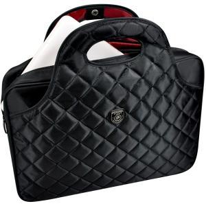 Port Designs Firenze Black/Red Professional Business/College Mens/Womens Laptop Bag/Messenger Bag for 15 inch