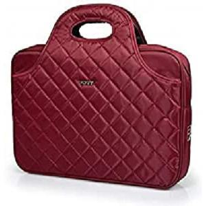 Port Designs Carmin Firenze Red Luxury Quilted Top Loading Travel Laptop/Notebook Bag Case for 15.6 inch