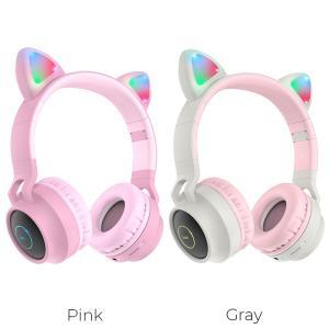 """hoco Headphones """"W27 Cat ear"""" wireless wired"""