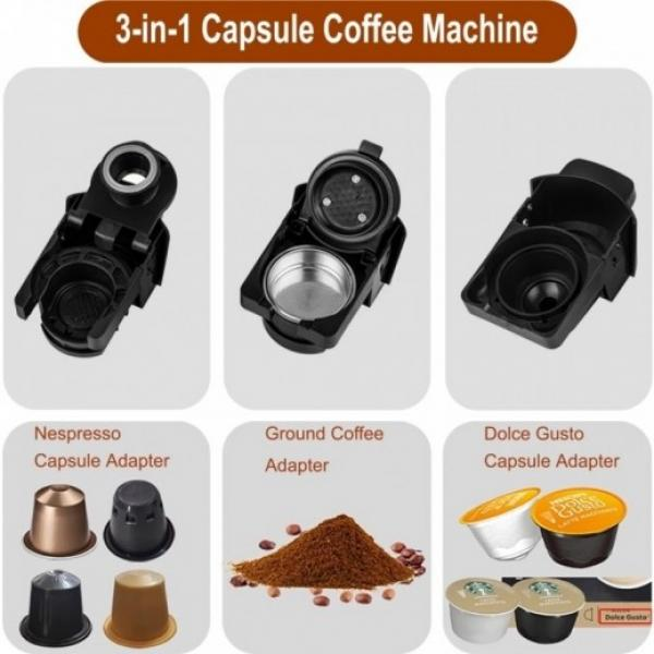 SAYONA 3 In 1 Multi Capsule Coffee Maker 600ml - SEM-4386 - BLACK & WHITE