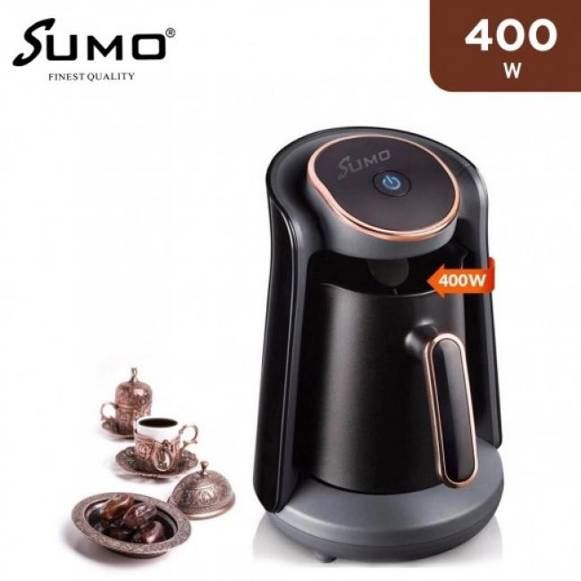 SUMO Turkish Coffee Machine Maker 500W / 500ML 4 CUPS - SCM-13 - BLACK