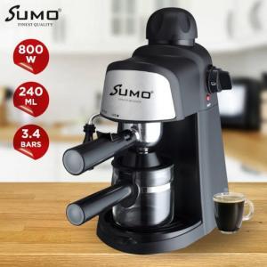 SUMO Espresso Coffee Maker 800W / 240ML 4 CUPS - SM-4298 - BLACK