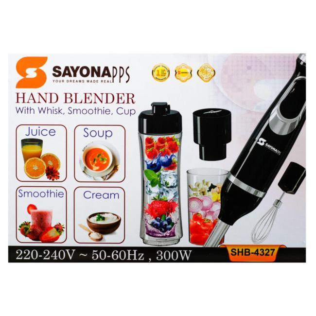 SAYONA Hand Blender 300W -SHB-4327 - BLACK