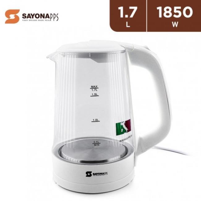 SAYONA 1850W Glass Heating Electric Kettle 1.7L - SGK-4348
