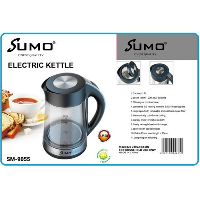 SUMO 1850W Glass Heating Electric Kettle 1.7L - SM-9055