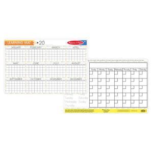 Melissa & Doug Calendar Learning Mat (Bundle of 6) - 5045