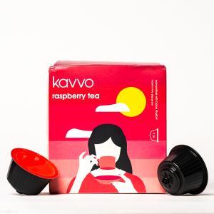 Kavvo Raspberry Tea | Dolce Gusto Machine Compatible Pods