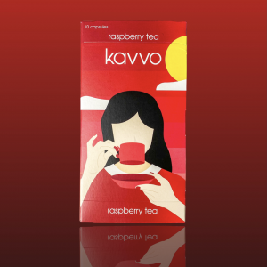 Kavvo Raspberry Tea | Nespresso Machine Compatible Pods