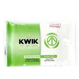 KWIK Care Antibacterial Wipes -15 WIPES (Pack of 24 Pieces)