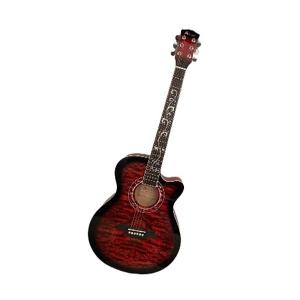 Artland Acoustic 40inch Guitar, Red - AG4012C-RED