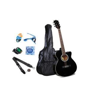 Smiger 40inch Beginner Acoustic Guitar Pack, Black - GA-H60-BK