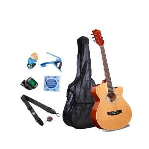 Smiger 40inch Beginner Acoustic Guitar Pack, Natural - GA-H60-N
