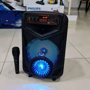 Tws Gz-P44 Wireless Bluetooth Portable Hifi Speaker With Microphone / Super Bass Subwoofer / Led Light / Fm Radio