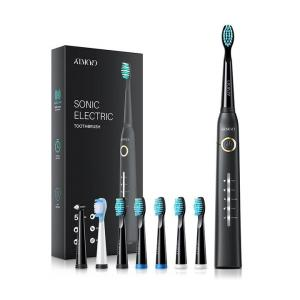 ATMOKO Electric Toothbrushes for Adults with 8 Duponts Brush Heads, 5 Modes, 4 Hour Charge for 30 Days Use, 40,000 VPM Motor
