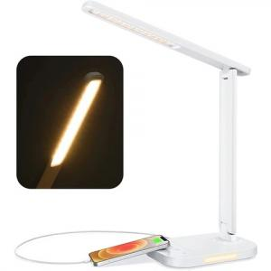 TOPELEK LED Desk Lamp, Eye-Caring Table Lamps with Night Light, Office Lamp