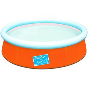 Bestway Inflatable Kiddie Pool, Orange -  1.52m x 38cm  - 57241-O
