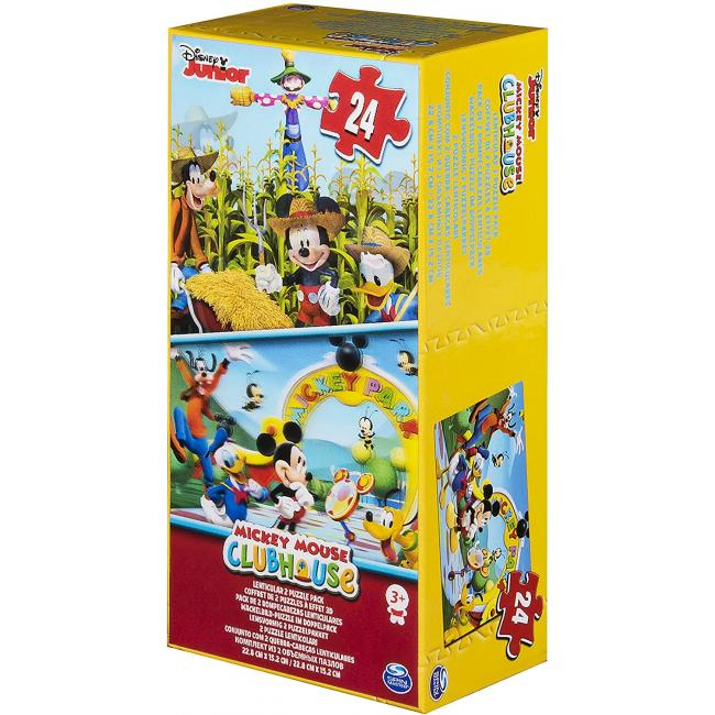 Disney Mickey Mouse Puzzle Lenticular Tower Box - 6033114-T