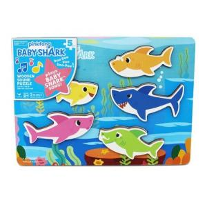 Baby Shark Chunky Wood Sound Puzzle - 6053347-T