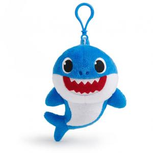 WowWee Pinkfong Baby Shark Plush Clips, Daddy Shark - Assorted - 61210-T