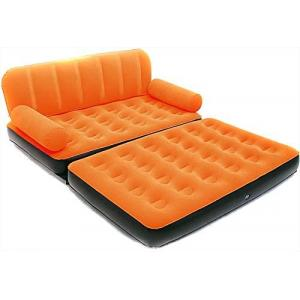 Bestway Double Multi-Functional Couch With Pump, Orange - 67356-O