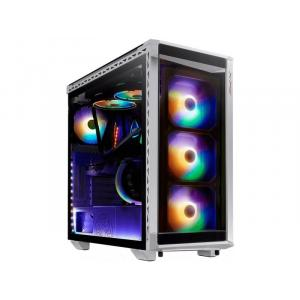 XPG Battle Cruiser Mid-Tower 4 RGB Fans Tempered Glass Panel PC Case, White - 75260030