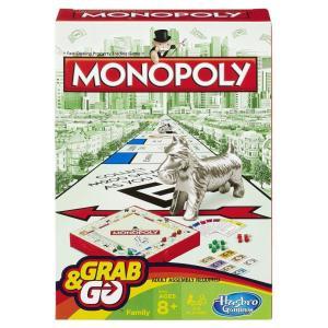 Hasbro Monopoly Grab & Go Travel Game - B1002