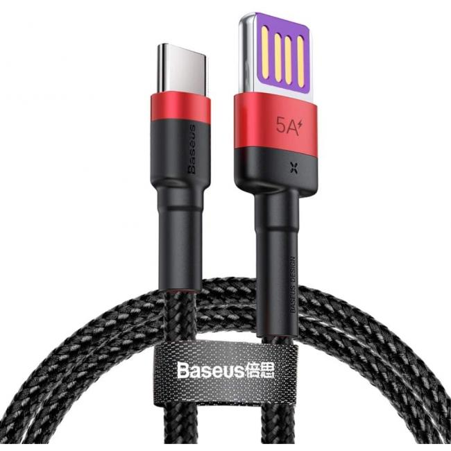 Baseus Cafule HW Quick Charging Data cable USB 40W, 1m - Red & Black - CATKLF-P91