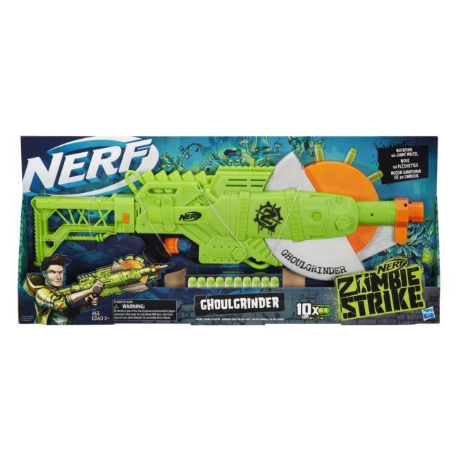Hasbro Nerf Zombie Strike Ghoulgrinder Blaster - E6184