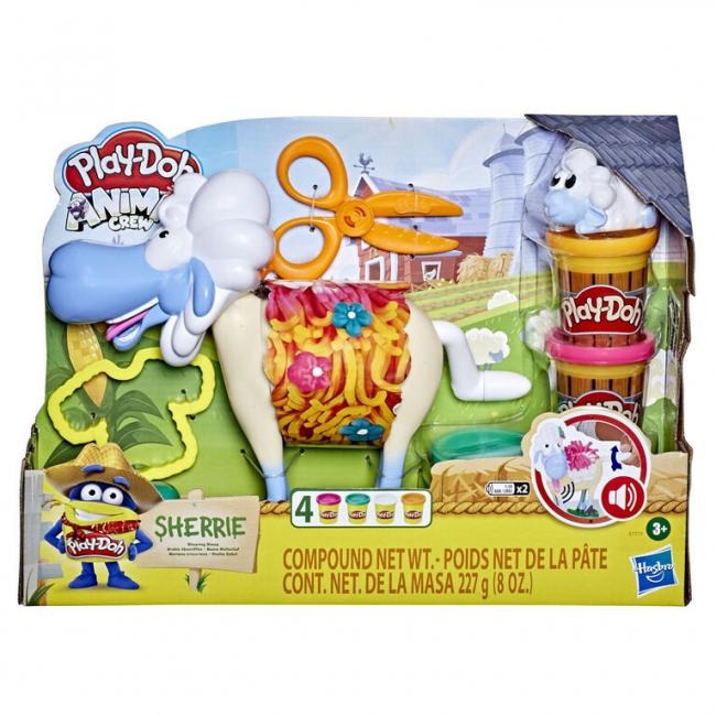 Hasbro Play-Doh Animal Crew Sherrie Shearin' Sheep Toy - E7773