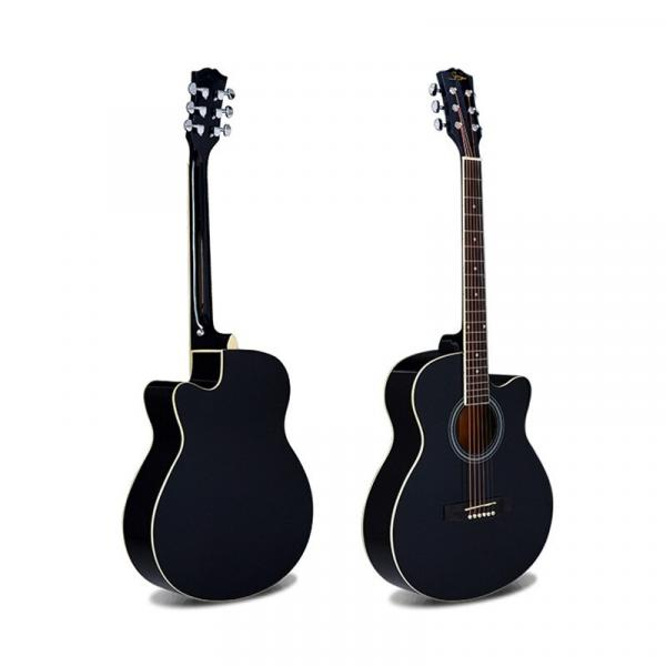 Smiger 40Inch High Quality Acoustic Guitar Pack - GA-H10-BK