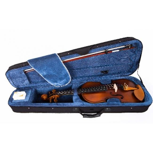 Artland 4/4 Solid Violin Ebony Fingerboard with Soft Case, Brown - GV103H-4/4