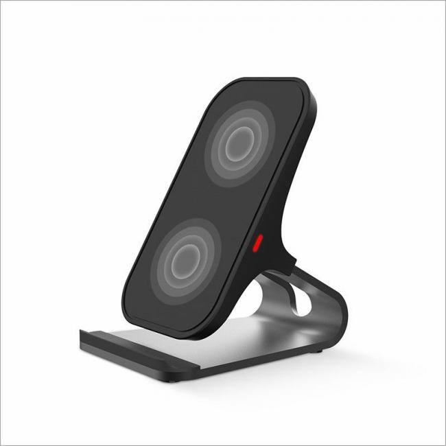 Havit Double Coil Wireless Charger, Black & Silver - H330