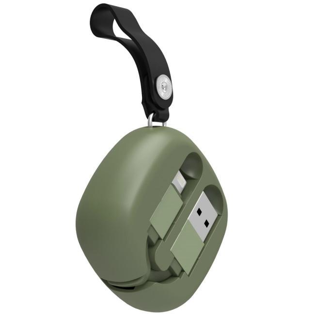 Havit Flexible Storage Lightning Cable, Green - H639