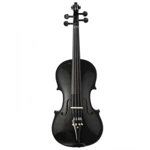Kinglos 4/4 Black Grid Colored Ebony Fitted Solid Wood Violin - HB-1311