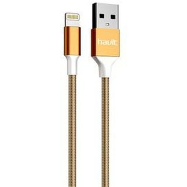 Havit USB Lightning Cable 1m, Gold - HV-CB721X