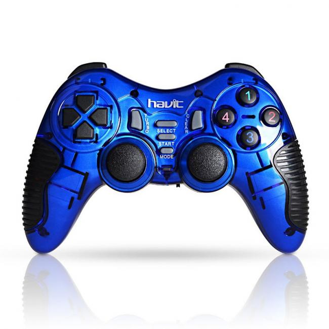 Havit Wireless Gamepad Controller for PC/PS2/PS3, Blue - HV-G89W