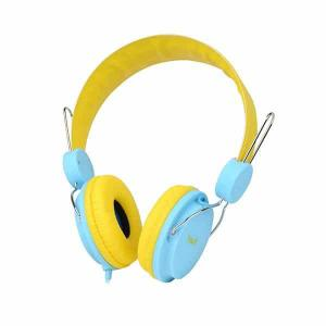 Havit Wired Headphone with Mic, Yellow/Blue - HV-H2198d
