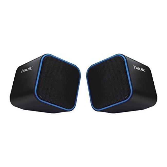 Havit Mini USB 2.0 Speaker, Black & Blue - HV-SK473