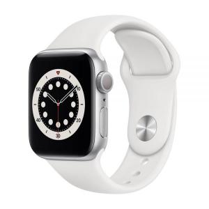 Apple Watch S6 GPS 44mm Silver Aluminium Case with White Sport Band - M00D3