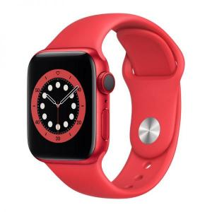 Apple Watch S6, 44mm PRODUCT(RED) Aluminium Case with RED Sport Band, GPS+Cellular - M09C3