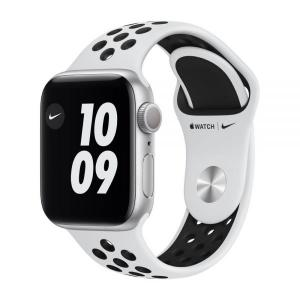 Apple Watch Nike S6 GPS 44mm Silver Alum Case with Pure Platinum/Black Nike Sport Band - MG293